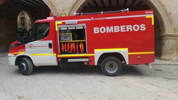 bombero en la Diputación Provincial de Teruel